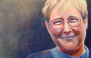 Painting of me by Barbara Bailey Hutchinson