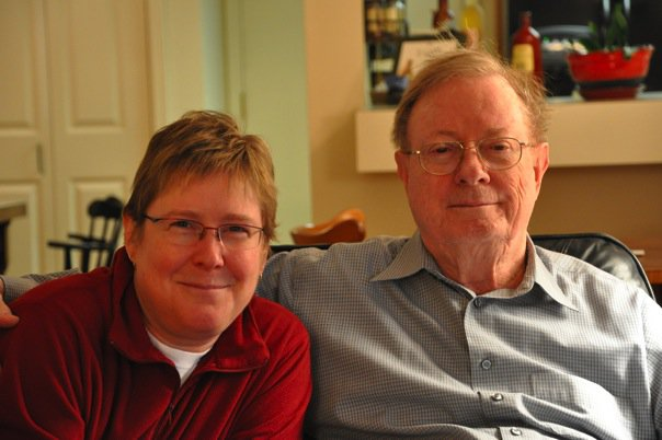 Beth with Dad