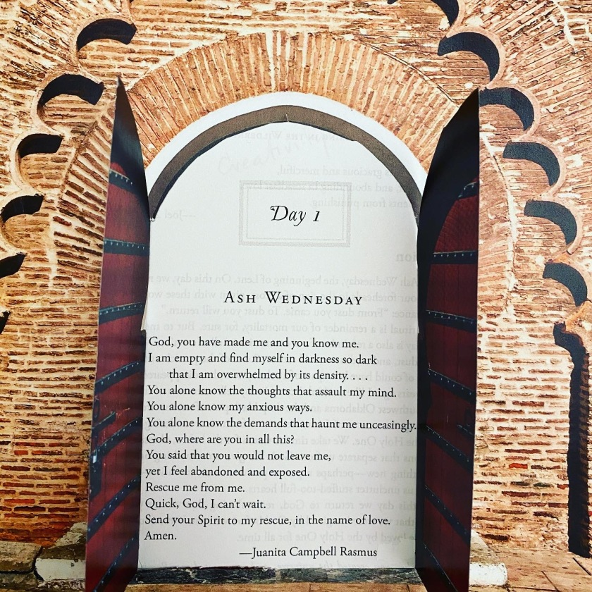 Ash Wednesday prayer by Juanita Rasmus